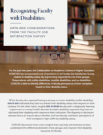 Recognizing Faculty with Disabilities: Data and Considerations from the Faculty Job Satisfaction Survey