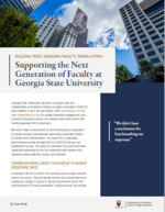 Building Trust, Engaging Faculty, Taking Action: Supporting the Next Generation of Faculty at Georgia State University