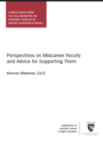 Perspectives on Midcareer Faculty and Advice for Supporting Them