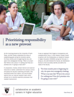 Prioritizing Responsibility as a New Provost