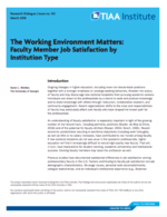 The Working Environment Matters: Faculty Member Job Satisfaction by Institution Type