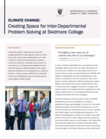 Climate Change: Creating Space for Interdepartmental Problem Solving at Skidmore College