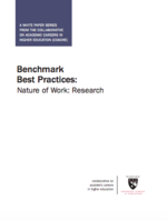 Benchmark Best Practices: Nature of Work: Research