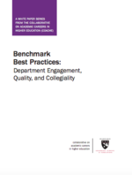 Benchmark Best Practices: Department Engagement, Quality, and Collegiality