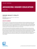 Senior Faculty Vitality