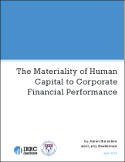 The Materiality of Human Capital to Corporate Financial Performance