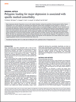 Polygenic loading for major depression is associated with specific medical comorbidity