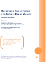 Expanding Employment for India's Rural Women