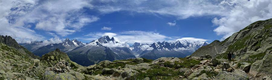 Cynthia Luo, Panoramic Alps, Mt. Blanc, France