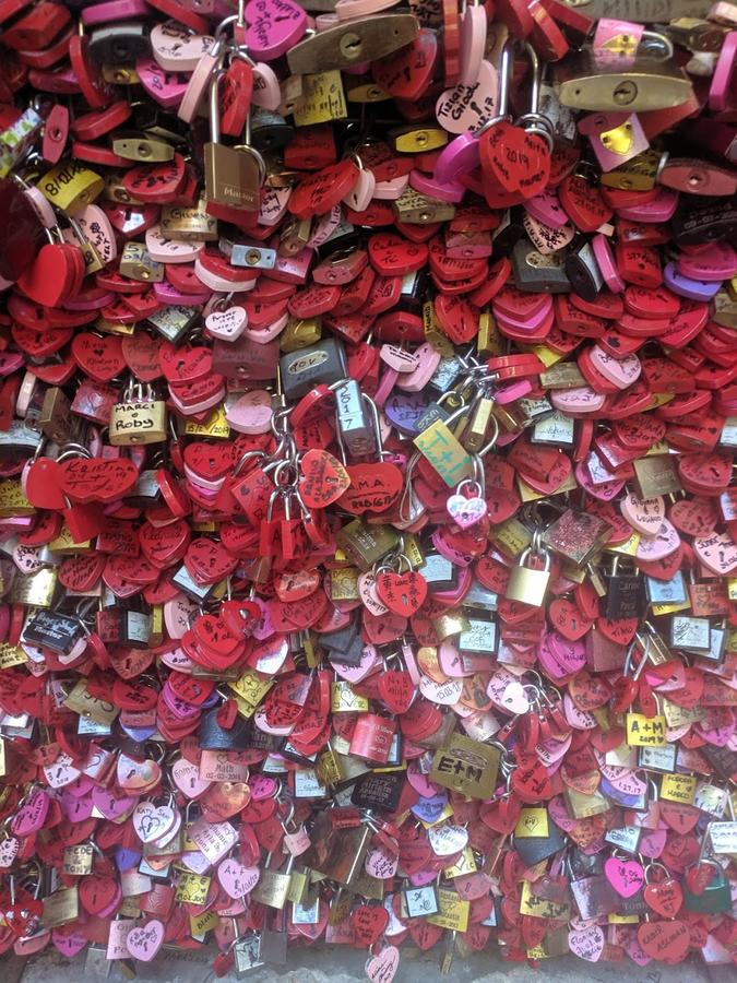 "Jessica Bishai, ""Locks of Love at the Statue of Juliet,"" Verona, Italy"