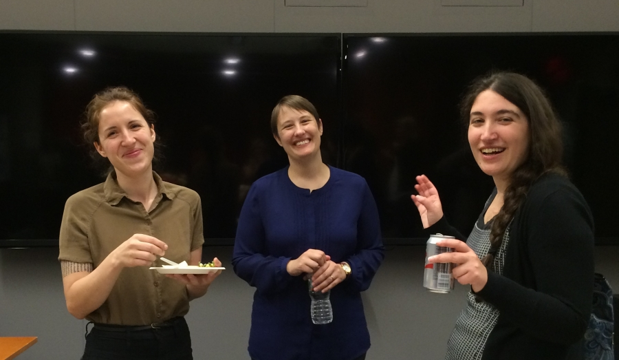 NDSR Boston 2014/15 alumni, Tricia Patterson, Sam DeWitt and Rebecca Fraimow