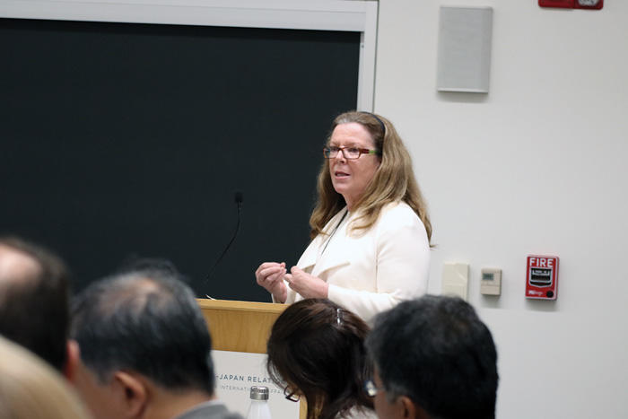 Image of Sheila Smith speaking at U.S.-Japan Relations seminar