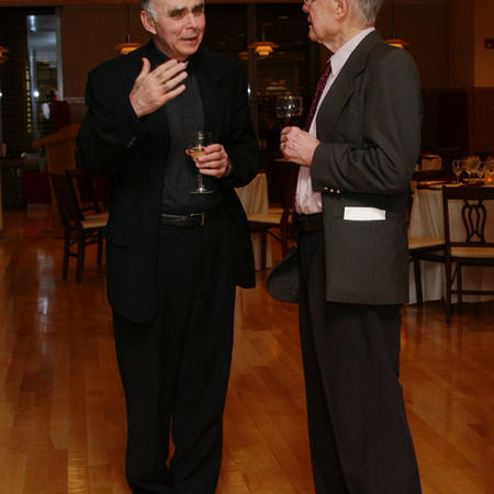 Image of J. Bryan Hehir and Thomas Schelling in 2006