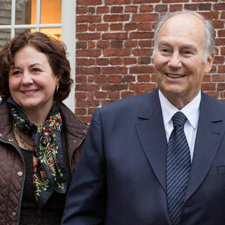 Image of Michele Lamont and the Aga Khan