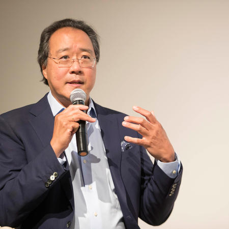 YO-Yo Ma responds to the audience