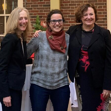 Kathy Molony, Talia Shiff and Michèle Lamont at Weatherhead Scholars Farewell, May 2019