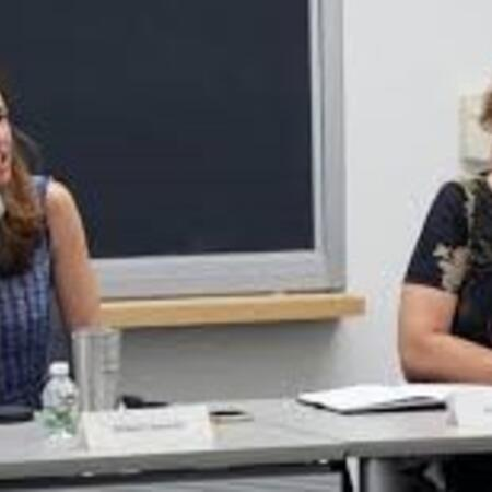 Melani Cammett and Michèle Lamont speaking on a panel