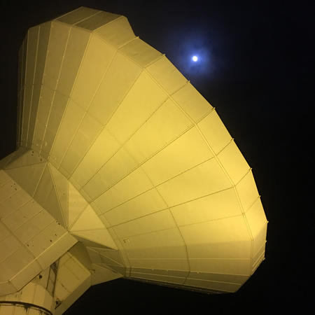 Pico Veleta 30-meter Telescope and the Moon