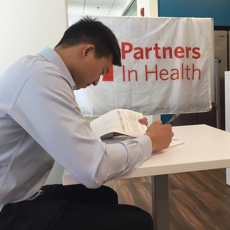 Vincent Lin, Partners In Health, Boston, USA