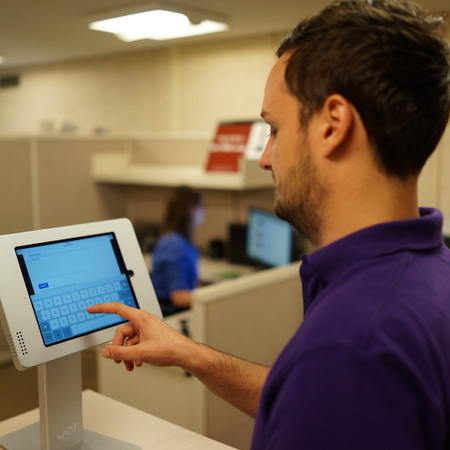 iPad Tabletop Stand with Qualtrics Survey