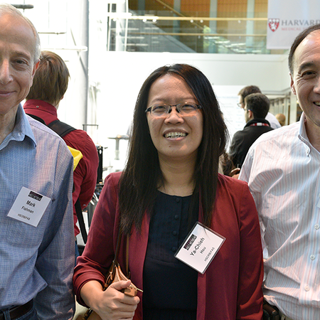 Mark Fishman, Ya-Chieh Hsu, and Rich Lee at a poster session