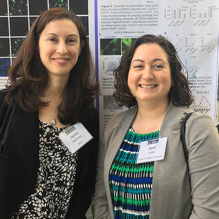 Jenna Calloway and April Craft at a poster session