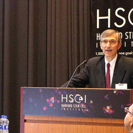 Peter Marks, FDA, speaking at a podium at HSCI