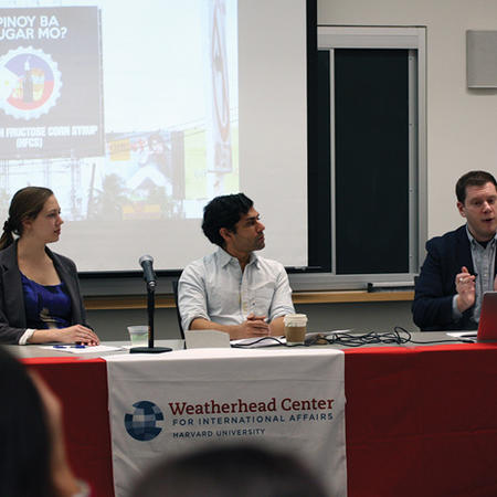 Image of the GSAs at the Weatherhead Forum