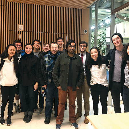 Image of comedian Hari Kondabolu and the Harvard Stand-Up Comics Society