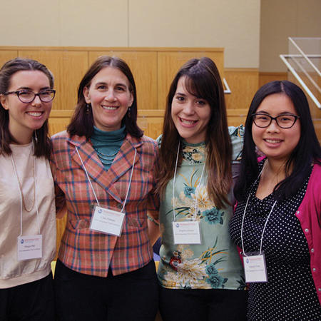 Image of Clare Putnam with undergraduate associates