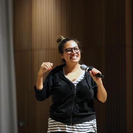 Image of Cristela Alonzo perform at International Comedy Night