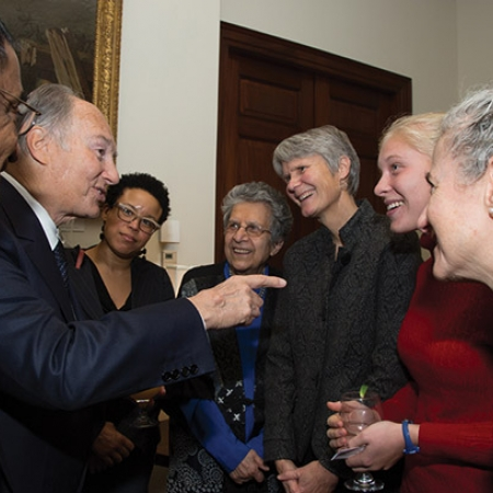 Image of His Highness the Aga Khan at the reception