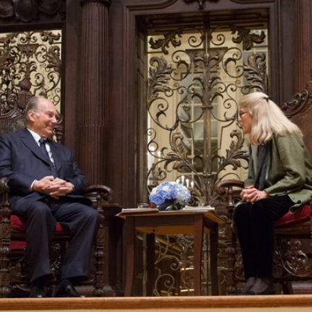 Image of His Highness the Aga Khan and Diana L. Eck