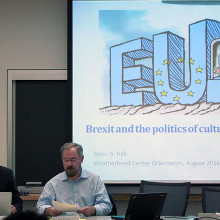 Image of Brexit panel at orientation