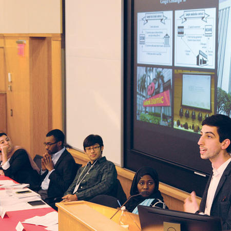 Image of student panel at undergraduate thesis conference