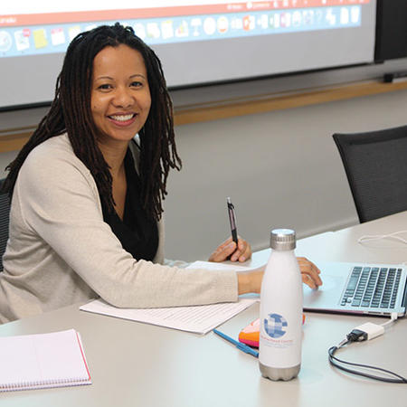 Image of Charmaine Nelson at the Weatherhead Forum
