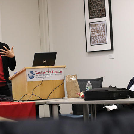 Image of Afro-Latin American Studies Initiative presentation at the Weatherhead Forum