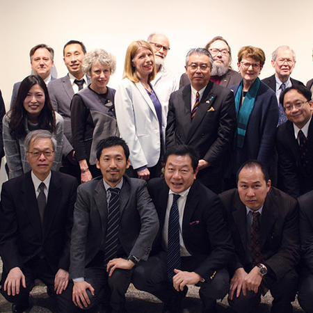 Image of Japanese Ambassador to the United States, Shinsuke Sugiyama visiting the Program on U.S.-Japan Relations