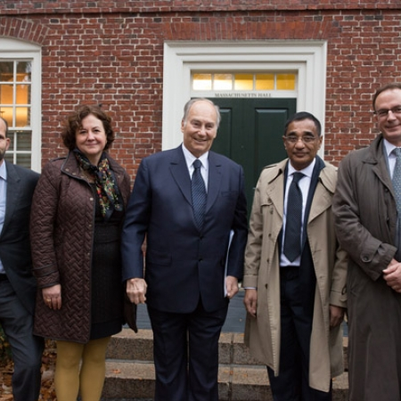 Image of His Highness the Aga Khan and others