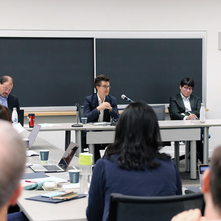 Image of panel speaking at WCFIA orientation