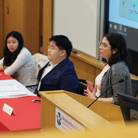 Image of panelists at the 2019 Undergraduate Thesis Conference
