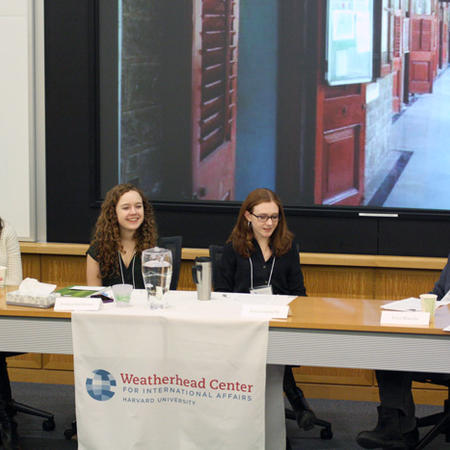 Image of panel at UG Thesis Conference