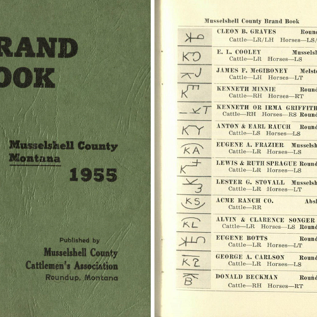 Brand book: Musselshell County, Montana, 1955