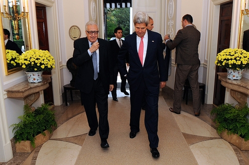 Secretary Kerry Welcomes Special Representative Brahimi to London
