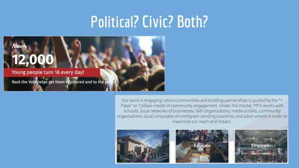 Political? Civic? Both?