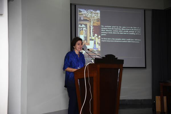 Conf GN as panel chair. The Arts and Culture of Mughal India, KR Cama Oriental Institute Mumbai
