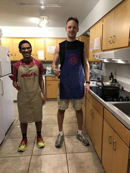 Theron and Doug in Kitchen