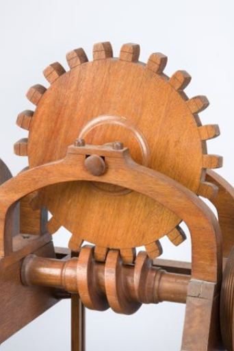 wooden mill gearing detail