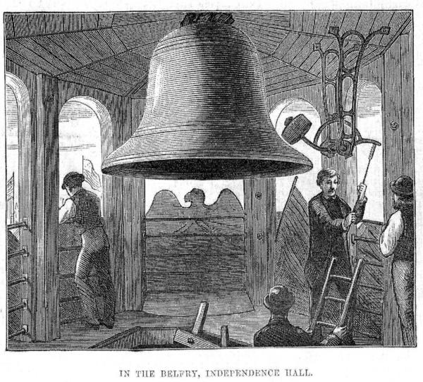 1876 Engraving of Centennial Bell, The Illustrated London News