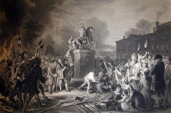Engraving of King George III Statue by John C. MacRae